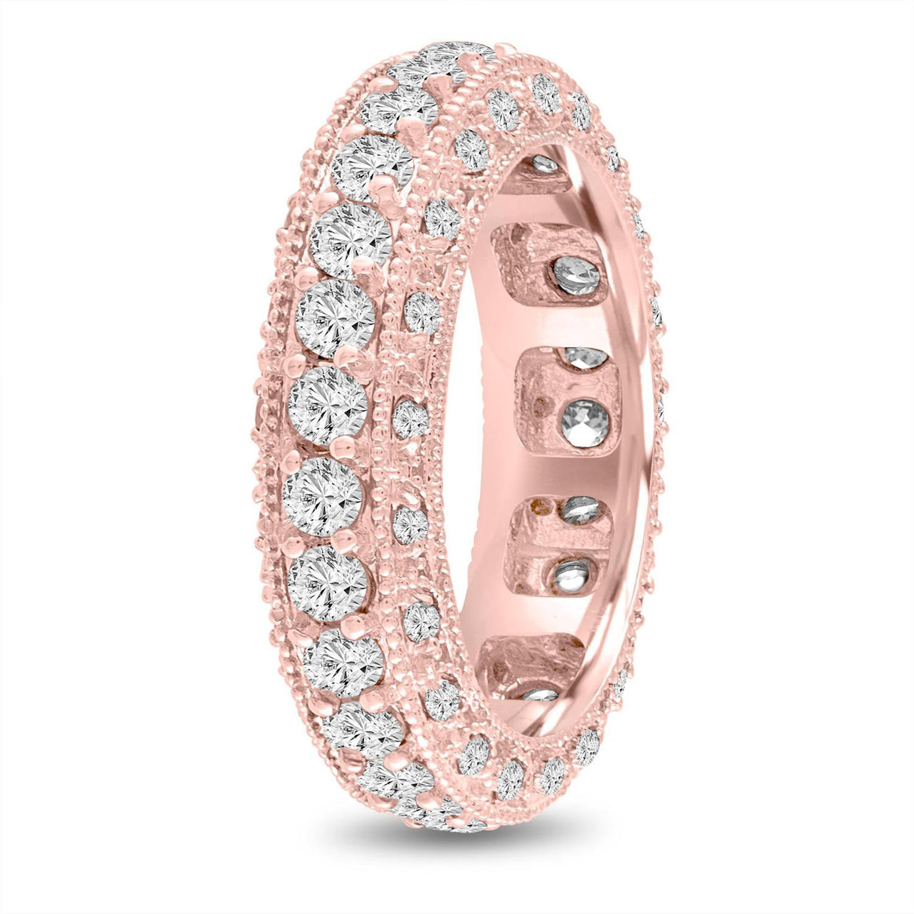 Mens Eternity Diamond Wedding Ring, Diamond Wedding Ring Rose Gold ...