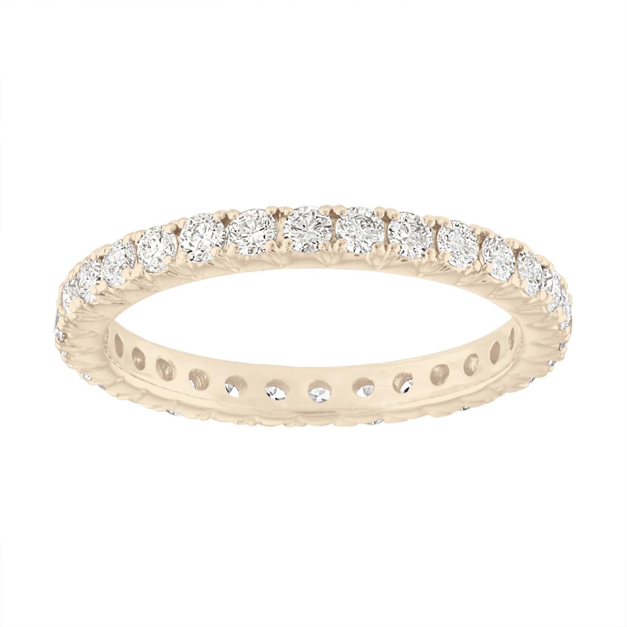 Eternity Diamond Wedding Ring, VS2 Diamonds Eternity Wedding Band ...