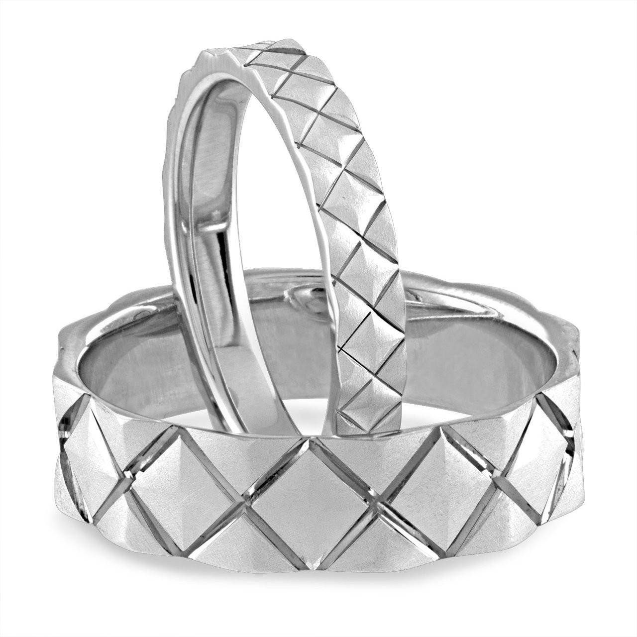 His & Hers Wedding Bands, Matching Wedding Rings, Couple Wedding ...