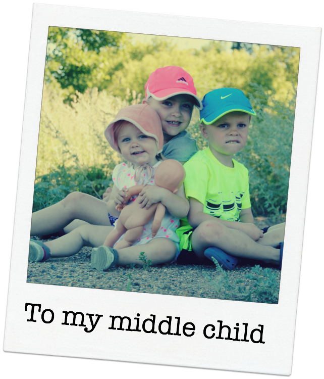 from a mom to her middle child, a loving message about love and family
