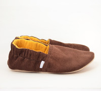 Grant Corduroy Bison Booties Slippers