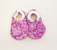 Orchid Corduroy Bison Booties 6-12 months