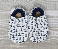 Ahoy Anchor Bison Booties 0-6 months