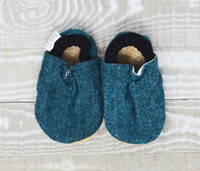 Finley Flannel Bison Booties 0-6 months