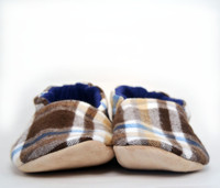 Morton Flannel Bison Booties Slippers