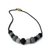 Chelsea Black + Gray Chewbeads Necklace