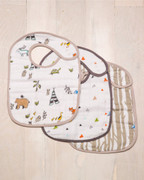 Forest Friends Classic 3 Bib Set Cotton Muslin