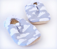 Cloudy Bison Booties 6-12 months