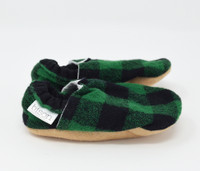 Evergreen Flannel Bison Booties 6-12 months