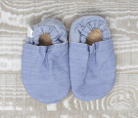 Chambray Denim Bison Booties 6-12 months