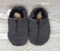 Slate Denim Bison Booties 0-6 months