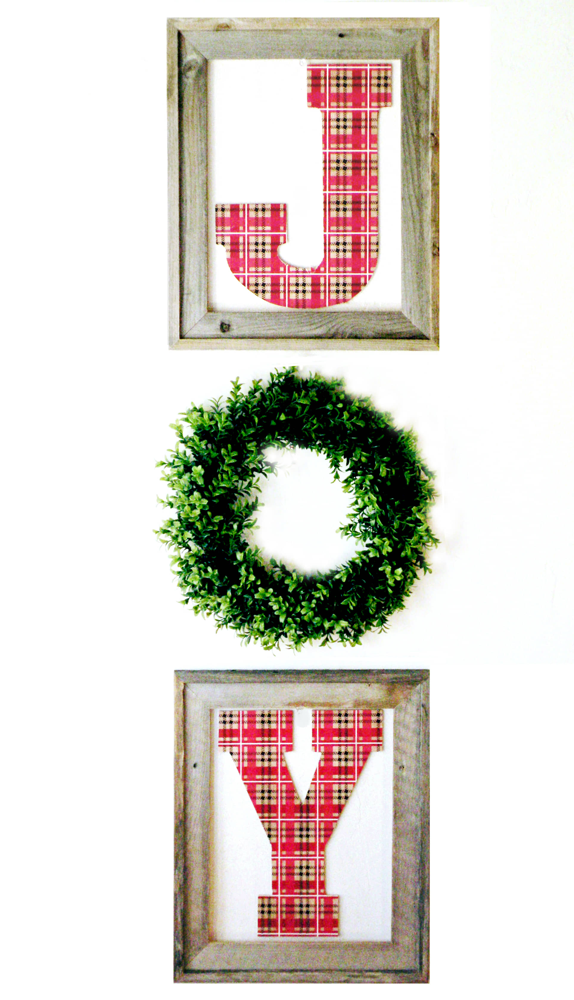 Quick and Easy DIY Christmas Projects - JOY Wall Hanging ...