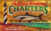 Vintage Beach Signs - Hatteras Fishing Charters