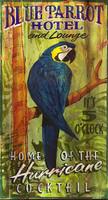 Blue Parrot - Vintage Hotel and Cocktails Sign
