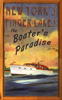 Boater's Paradise - New York Finger Lakes Vintage Boating Sign