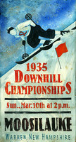 Vintage Signs - Downhill Skiing Championships