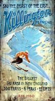 Vintage Signs - Killington Vermont Skiing