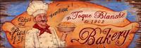 La Toque Bakery -Vintage Restaurant and Kitchen Sign