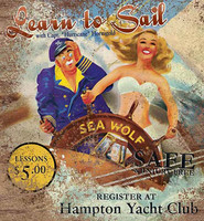 Learn to Sail Vintage Advertisement Sign