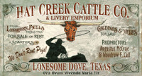 Vintage Signs - Lonesome Dove
