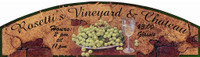 Rosetti's Vineyard and Chateau Custom Vintage Sign
