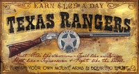 Vintage Signs - Texas Ranger Recruitment