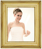 Solid Wood Picture Frame, Antique Ivory 8x10 with Dark Glaze, Glass and Hardware