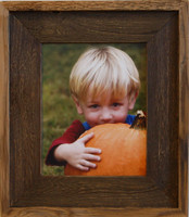 8x10 Barnwood Picture Frame - Lighthouse Brown Wash Rustic Frame