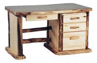 Aspen Log Desk - 4 Drawers