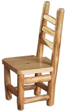 Log Dining Chair Rustic Side Image 1