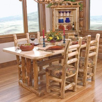 Log Dining Room Table, Heirloom Collection