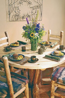 Round Log Table With Stump Base, Heirloom Collection