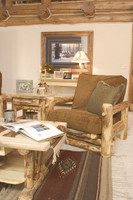 Log Easy Chair - Comfy Rustic Chair