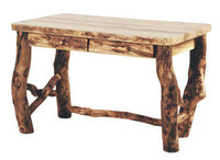 Rustic Log Desk
