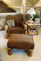 Junior Twin Log Futon Chair and Ottoman With Optional Cushion