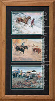 Huntin' Cuttin' And Cuffin', Clark Kelley Price Western Art