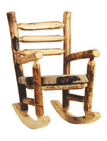 Rustic Log Rocking Chair