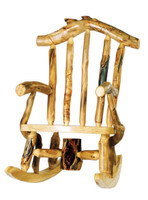 Log Snowload Rocking Chair