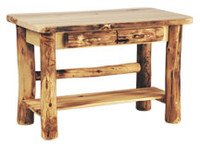 Log Sofa Table With Two Drawers, 48 Inches