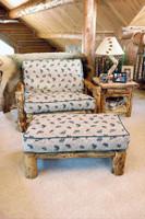 Log Futon Chair and Ottoman - Twin Size