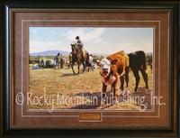 "Limited Edition Print - ""Spring Branding"" Tim Cox Cowboy Art"