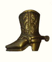 Cowboy Boot Cabinet Hardware Knob - Left Facing