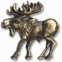 Walking Moose Cabinet Hardware Knob - Left Facing