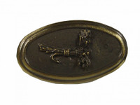 Trout Fly Oval Cabinet Hardware Knob
