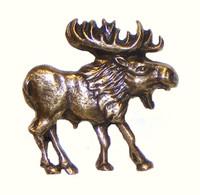 Walking Moose Cabinet Hardware Knob - Right Facing