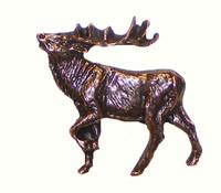 Walking Elk Cabinet Hardware Knob - Left Facing