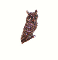Horned Owl Cabinet Hardware Knob