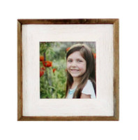 8x8 Barnwood Picture Frame- Lighthouse Whitewash