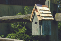 Birdhouse - Bluebird Manor in grey