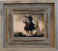 16x20 Laramie Style Rustic Barnwood Frame